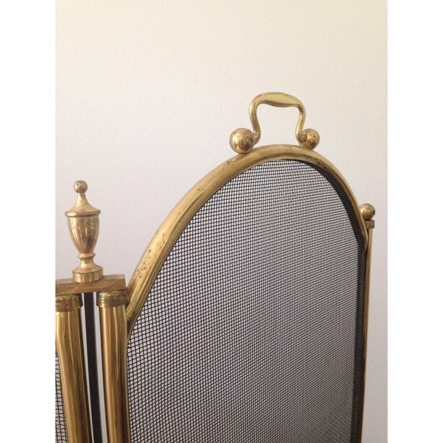 Vintage Five Panel Brass Fireplace Screen - Image 3 of 3