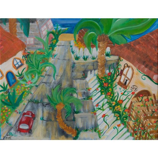 West Side of Santa Cruz Acrylic Painting - Image 1 of 5