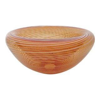 Jody Fine Art Glass Bowl For Sale