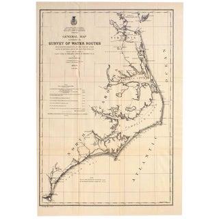 Mid Atlantic Survey Chart, 1878 For Sale