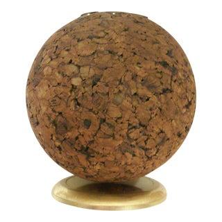 Mid-Century Spherical Cork Pen Holder Desk Accessory For Sale