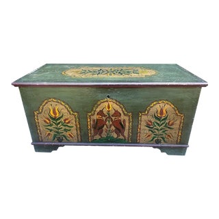 Pennsylvania/Dutch Painted Blanket Chest For Sale
