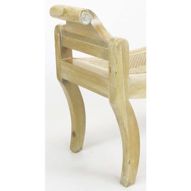Pair Swedish Rococo Style White Glazed Pine Benches - Image 9 of 10
