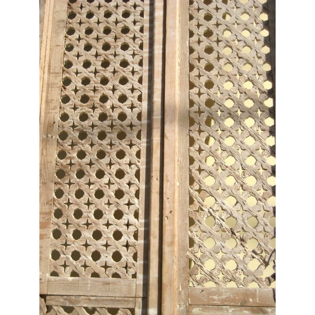 Boho Chic Egyptian Fruit Wood Panels - A Pair For Sale - Image 3 of 5