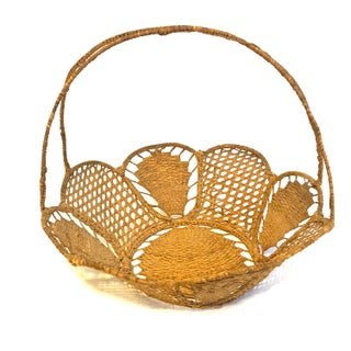 Vintage Hand-Woven Basket Preview