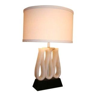 1940's Alabaster Ribbon Lamp For Sale