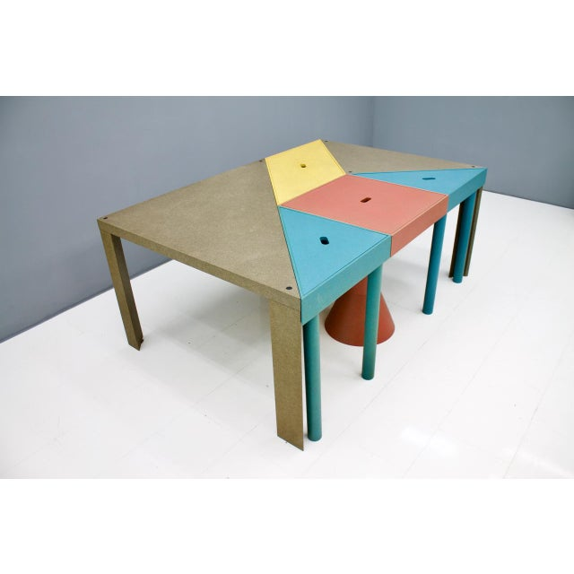 Contemporary Set of Six Tangram Tables by Massimo Morozzi for Cassina, 1983 For Sale - Image 3 of 11