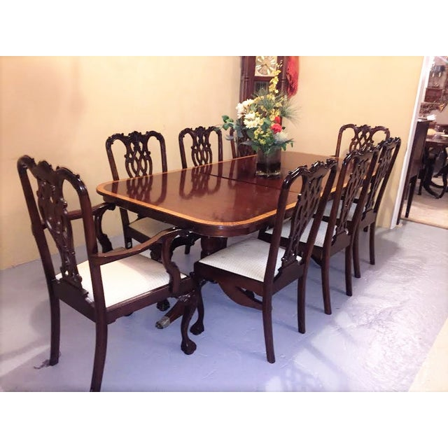 Georgian Style Dining Chairs - Set of 8 - Image 9 of 9