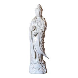 Antique White Porcelain Quan Yin Figurine For Sale