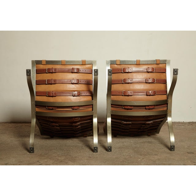 Pair of Arne Norell Tan Leather Ari Chairs, Norell Mobler, Sweden, 1970s For Sale - Image 10 of 11