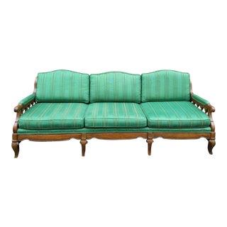 Vintage Wood Frame Sofa For Sale