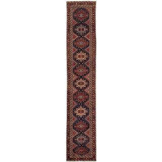 "Apadana - Beautifully Designed Antique Malayer Rug, 2'7"" X 14'5"""