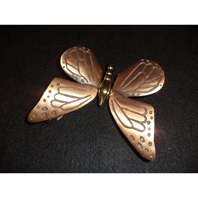Late 20th Century Bronze and Brass Monarch Butterfly Door Knocker For Sale - Image 5 of 11