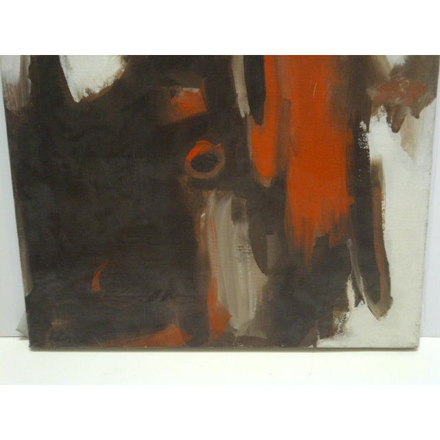 "20th Century Contemporary Original Framed Painting on Canvas, ""Flowing Red"" by Frederick McDuff For Sale - Image 4 of 8"