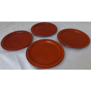West German Ceramano Bread Plate in Sunset Orange Preview