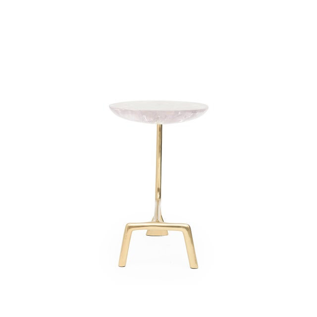Mid-Century Modern Uovo Side Table (Ice-Cracked Resin) by Sylvan San Francisco For Sale - Image 3 of 8