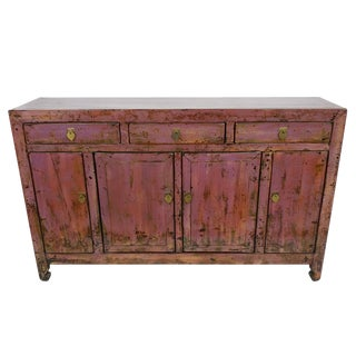 Antique Lacquer Finish Dongbei Sideboard