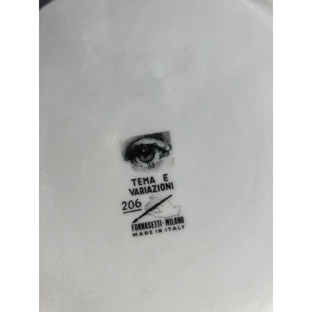 Hollywood Regency Vintage Fornasetti Plate For Sale - Image 3 of 4