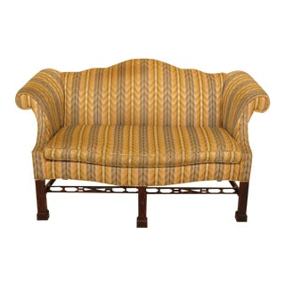 Baker Historic Charleston Mahogany Loveseat For Sale