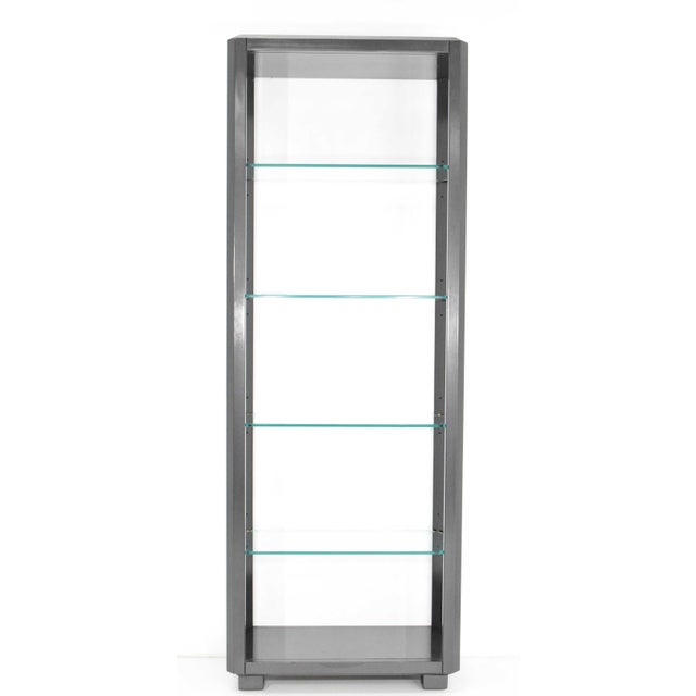 Shelf Unit With Glass Shelves For Sale - Image 10 of 10