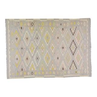 "Vintage Afghan Hand Made Organic Wool Maimana Kilim,5'7""x8' For Sale"
