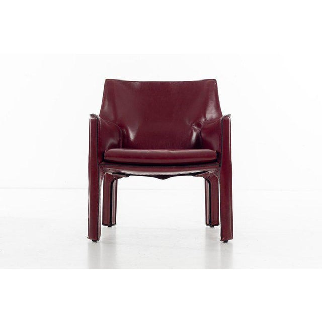 Mario Bellini Cab Lounge Chairs For Sale In New York - Image 6 of 11