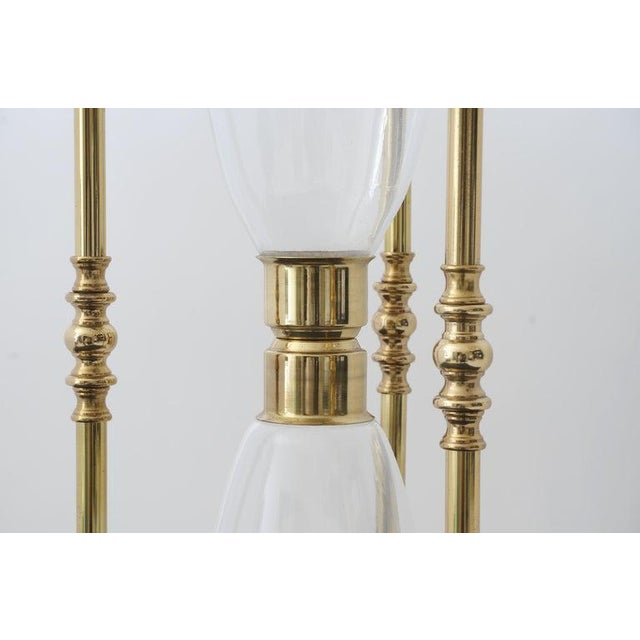 Brass Mid-Century 1-Hour Sand Timer Hourglass in Polished Brass and Hand-Blown Glass For Sale - Image 8 of 10