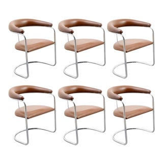 Classic Anton Lorenz for Thonet Dining Chairs - Set of 6 For Sale