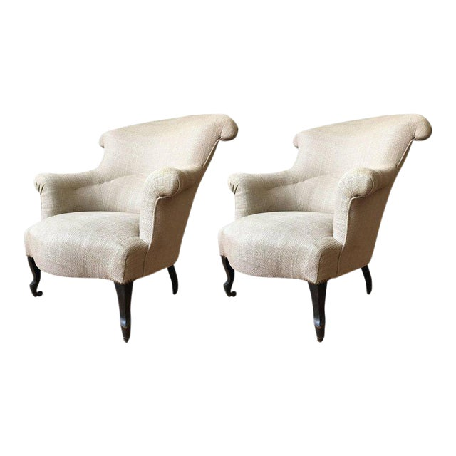 Pair of Scrolled Napoleon III Armchairs - Image 1 of 10