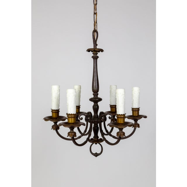 Renaissance Revival Six-Light Candlestick Chandelier For Sale - Image 11 of 11