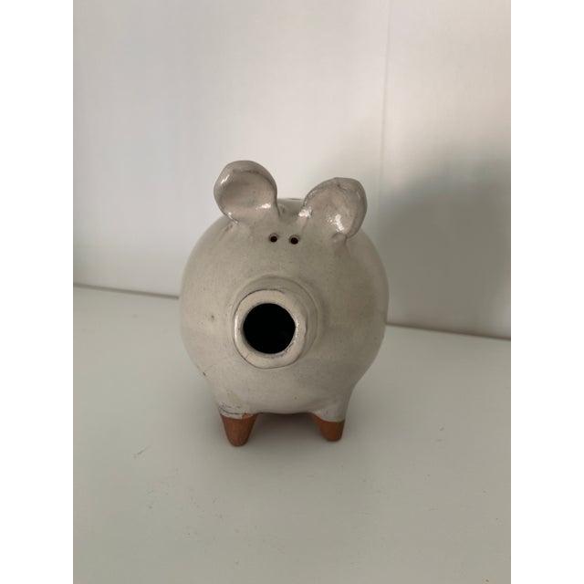 Ceramic Terracotta Pig Figurine For Sale - Image 7 of 7