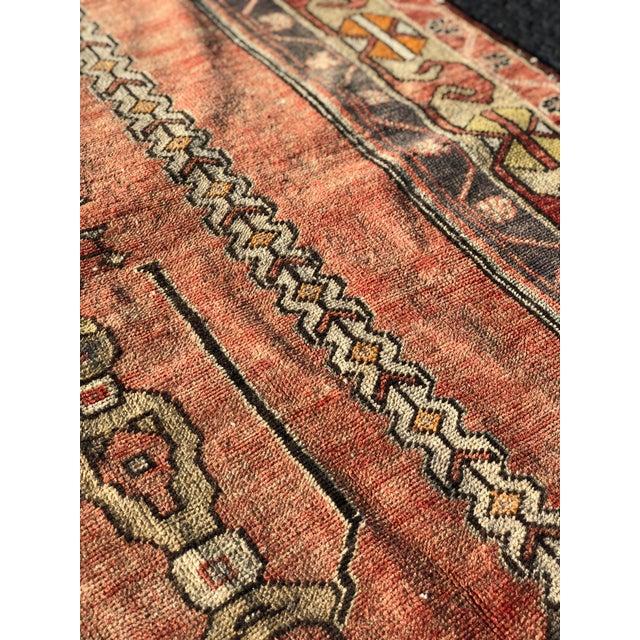 Textile 1940s Vintage Turkish Runner Rug - 3′10″ × 7′9″ For Sale - Image 7 of 13