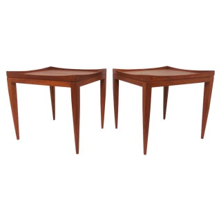 Poul M. Jessen Danish Teak End Tables With Removable Tray Tops Circa 1960s, Pair For Sale