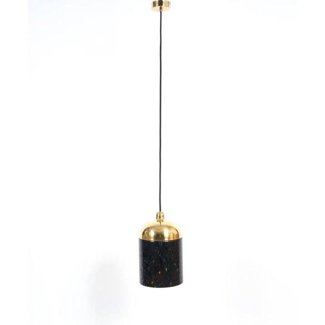 Murano, Venini & Co. Pair Murano Glass and Brass pendants, circa 1970 For Sale - Image 4 of 8