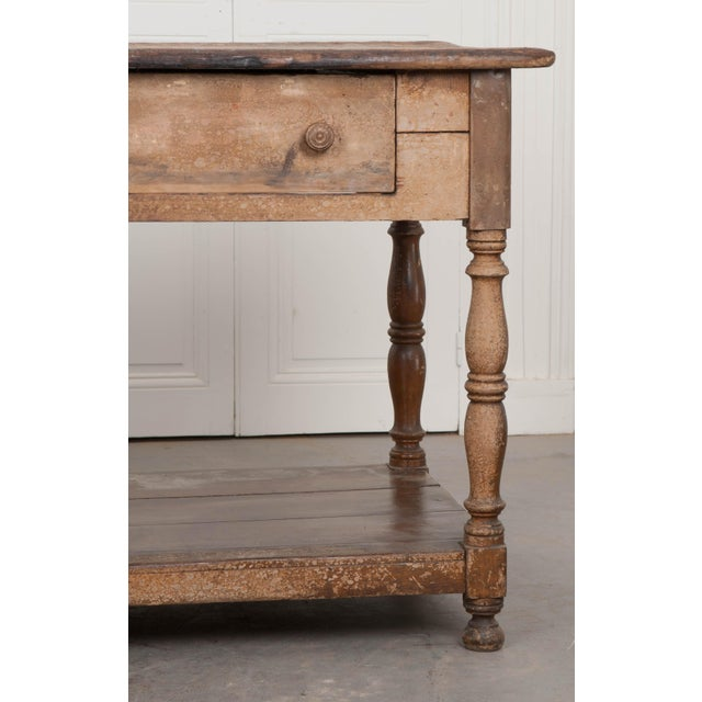 French Provincial French 19th Century Painted Drapery Table For Sale - Image 3 of 13