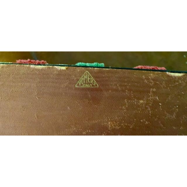 Vintage Striped Fomerz Italy Leather, Satin, Velvet, Felt Domed Box For Sale - Image 10 of 12