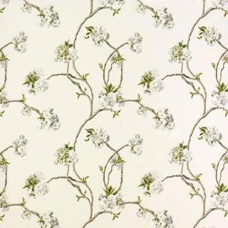 Osborne & Little Mauve Orchard Blossom Linen Fabric Sample For Sale