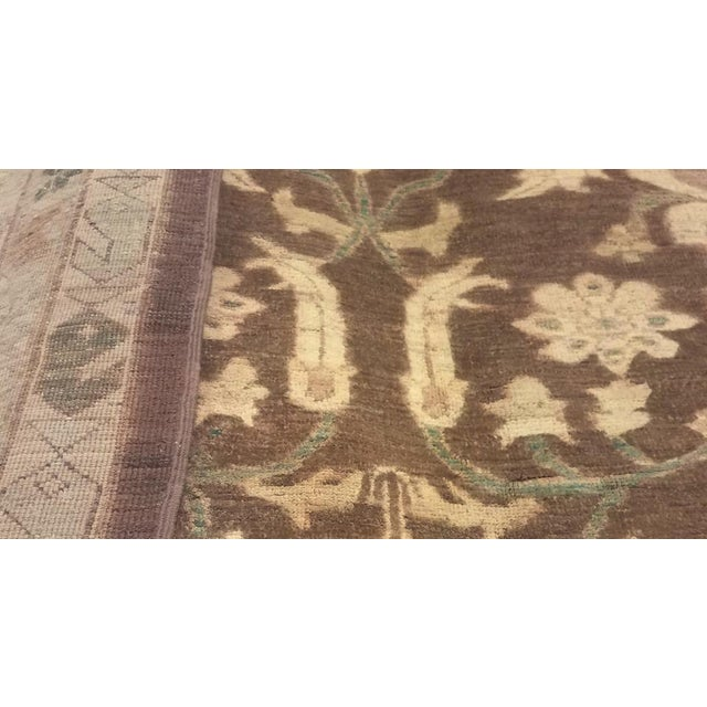 "Kafkaz Peshawar Shalonda Brown & Ivory Wool Rug - 12' x 13'9"" For Sale In New York - Image 6 of 7"