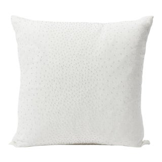 Schumacher Double-Sided Pillow in Northern Lights Beaded Ombre Print For Sale