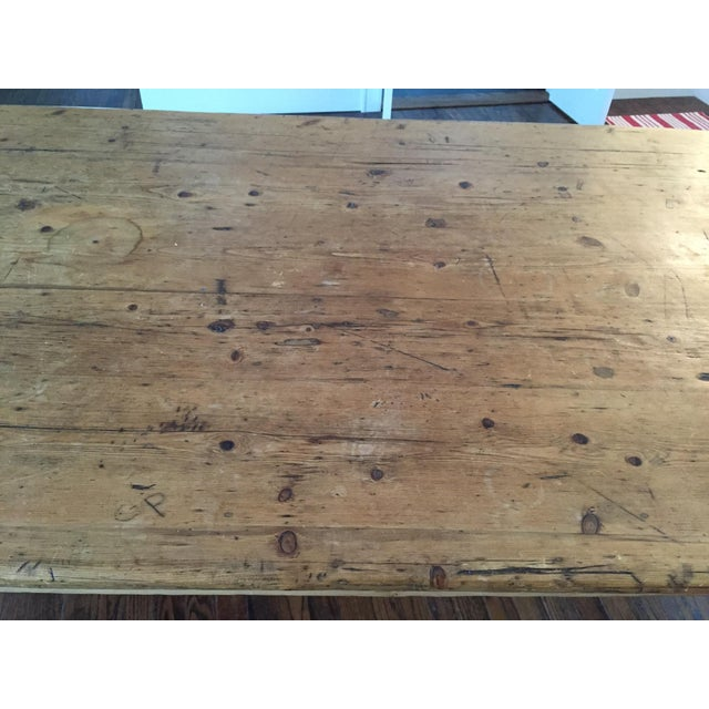 Antique French Harvest Table - Image 4 of 5
