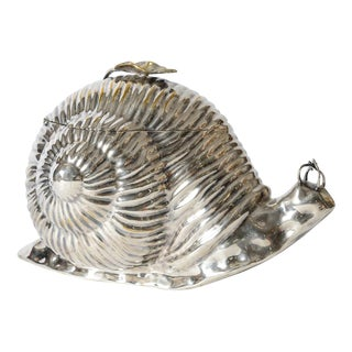 Italian Silver Plate Large Snail Ice Bucket, Teghini Firenze C.1970 For Sale