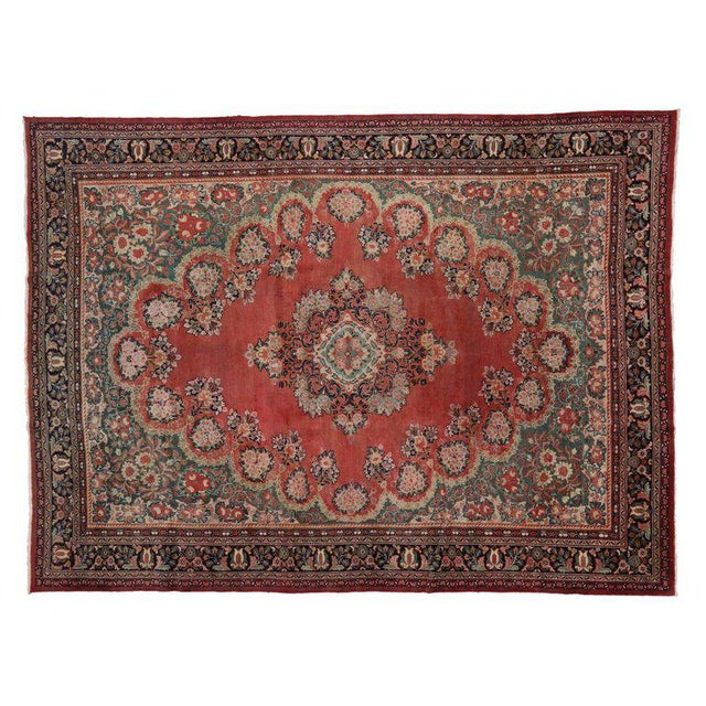 Textile Antique Persian Mahal Rug with Traditional Style For Sale - Image 7 of 8