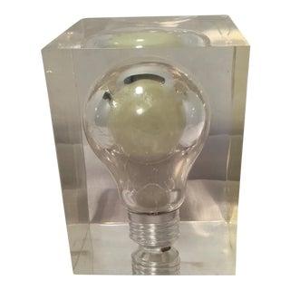 Vintage Lucite Light Bulb Nightlight
