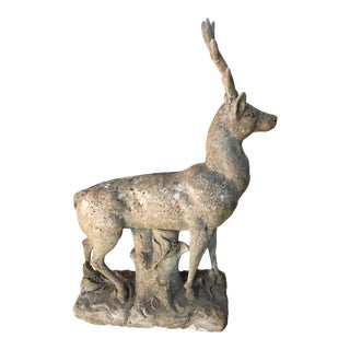 Early 19th Century Italian Stag Statue For Sale