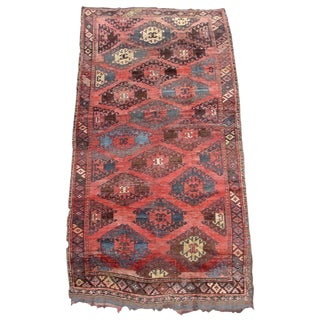 Central Asian Tribal Rug - 4′11″ × 9′1″ For Sale