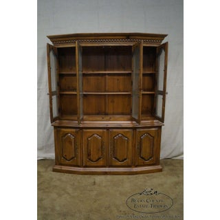 Ethan Allen French Style China Cabinet Breakfront Preview
