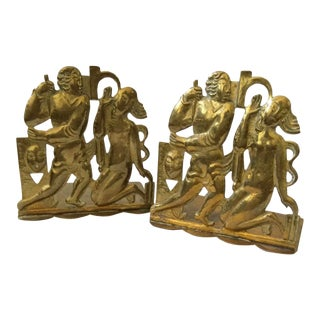 Art Deco Hagenauer wHw Brass Bookends - a Pair For Sale
