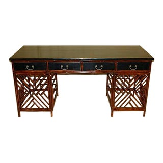 Chinese Antique Bamboo Desk For Sale
