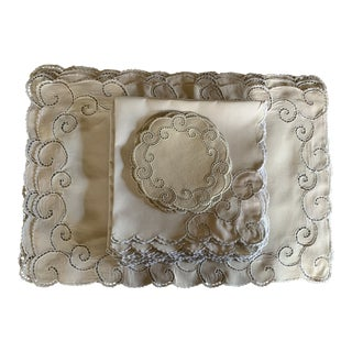 Vintage Madeira Place Mats and Napkins - Set of 24 For Sale