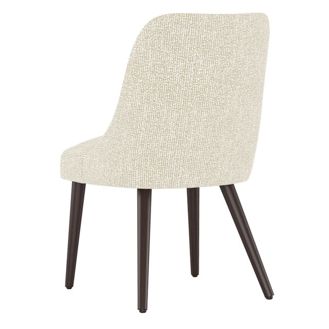 Contemporary Rounded Back Dining Chair in Solitude Natural For Sale - Image 3 of 7